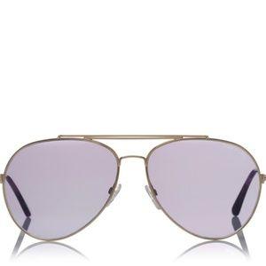 Tom Ford Indiana Tf 497 28z Goldtone Sunglasses
